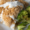 Panko and Sesame Crusted Fish with Roasted Broccoli