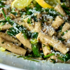 Spring Pasta Salad with Aparagus, Spinach, and Mint