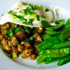 Curried Chick Pea and Red Potato Hash