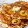 Super Fluffy Whole Wheat Banana Pancakes