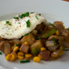 Asian Pork and Sweet Corn Hash