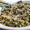 Late Spring Couscous with Spinach, Zucchini, and Pumpkin Seeds