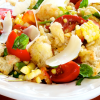 Garlicky Bread Salad with Heirloom Tomatoes and Sweet Corn