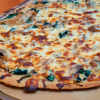 Whole Grain White Pizza with Carmelized Onions and Garlicky Spinach