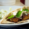 Sweet Pea Falafel with Minted Cucumber Salad